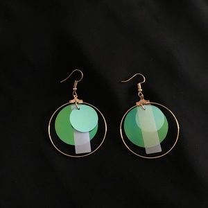 Jewelry - IRIDESCENT HOOP EARRINGS